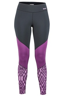 Women's Lightweight Lana Tights, Grape Textured Ikat, medium