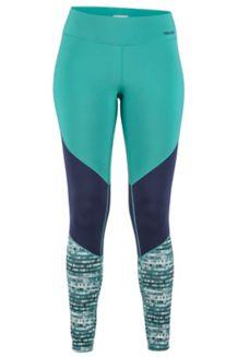 Women's Lightweight Lana Tights, Patina Green Painterly Stripe, medium