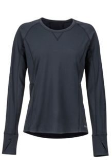 Women's Midweight Meghan Crewneck Shirt, Black, medium