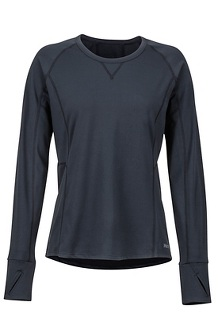 Women's Midweight Meghan Crew, Black, medium