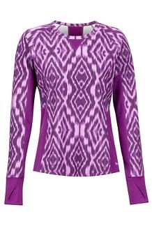 Women's Midweight Meghan Crew, Grape Textured Ikat, medium