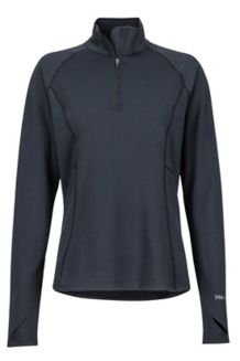 Women's Midweight Meghan 1/2 Zip Shirt, Black, medium