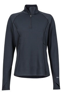 Women's Midweight Meghan 1/2-Zip, Black, medium