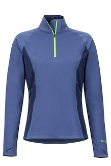 Women's Midweight Meghan 1/2-Zip, Storm/Arctic Navy, medium
