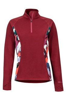 Women's Midweight Meghan 1/2 Zip, Claret/Multi Pop Camo, medium