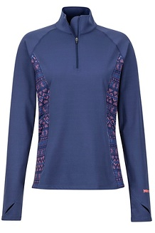 Women's Midweight Meghan 1/2-Zip, Arctic Navy Yucatan, medium