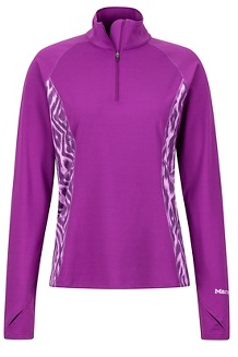 Women's Midweight Meghan 1/2 Zip, Grape Textured Ikat, medium