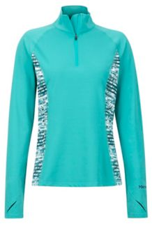 Women's Midweight Meghan 1/2 Zip, Patina Green Painterly Stripe, medium