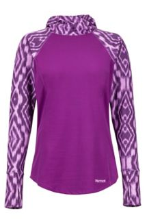 Women's Midweight Meghan Hoody, Grape Textured Ikat, medium