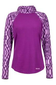 Women's Midweight Meghan Hoody, Grape Textured Ikat, medium