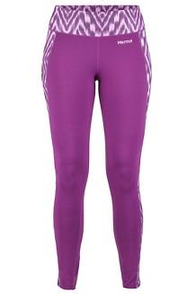 Women's Midweight Meghan Tights, Grape Textured Ikat, medium
