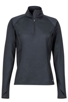 Women's Heavyweight Nicole 1/2 Zip Shirt, Black, medium