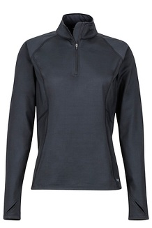 Women's Heavyweight Nicole 1/2-Zip, Black, medium