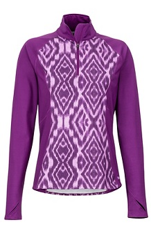Women's Heavyweight Nicole 1/2-Zip, Grape Textured Ikat, medium