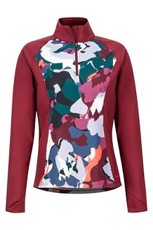 Women's Heavyweight Nicole 1/2-Zip, Multi Pop Camo/Claret, medium