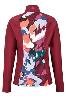 Women's Heavyweight Nicole 1/2 Zip, Multi Pop Camo/Claret, medium