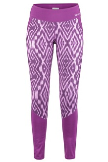 Women's Heavyweight Nicole Tights, Grape Textured Ikat, medium