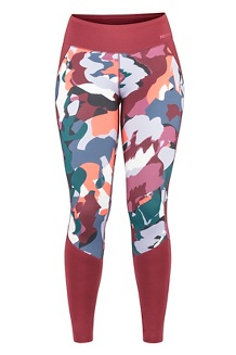 Women's Heavyweight Nicole Tights, Multi Pop Camo/Claret, medium