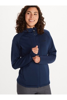 Women's Olden Polartec Power Stretch Pro Hoody, Arctic Navy, medium