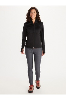 Women's Olden Polartec Hoody, Black, medium