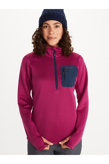 Women's Olden Polartec ½-Zip Jacket, Wild Rose/Arctic Navy, medium