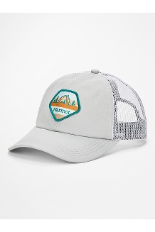 Women's Kira Trucker Hat, Bright Steel/White, medium
