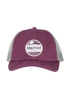 Women's Kira Trucker Hat, Dark Purple, medium