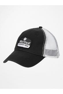 Alpine Soft Mesh Trucker Hat, Black/White, medium