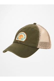Alpine Soft Mesh Trucker Hat, Crocodile/Desert Khaki, medium