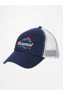 Alpine Soft Mesh Trucker Hat, Arctic Navy/White, medium