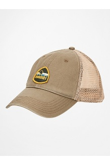 Alpine Soft Mesh Trucker Hat, Desert Khaki, medium