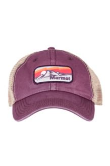 Alpine Soft Mesh Trucker Hat, Sunsetter Burgundy, medium