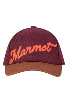 Men's Wool Cap, Fig/Terracotta, medium
