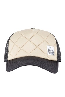 Men's Winter Trucker Hat, Light Khaki/Black, medium