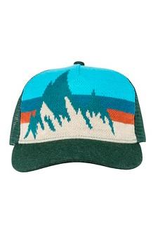 Women's Winter Trucker Hat, Deep Teal, medium