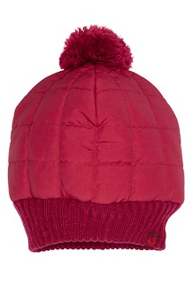 Women's Quilted Pom Beanie, Claret, medium