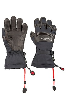 Men's Ultimate Ski Gloves, Black, medium