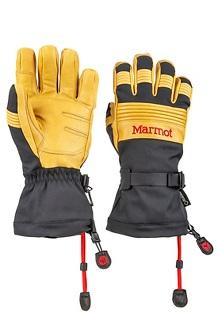 Men's Ultimate Ski Gloves, Black/Tan, medium