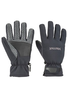 Men's Glide Softshell Gloves, Black, medium