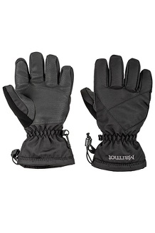 Boys' Glade Gloves, Black, medium
