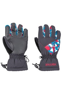 Boys' Glade Gloves, Blue Granite Paint Strokes, medium