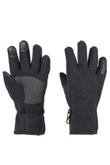 Women's Connect Windproof Gloves, Black, medium