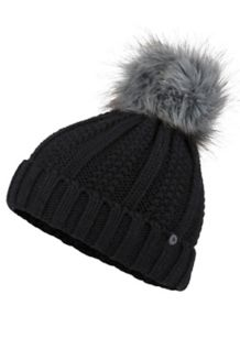 Wm's Bronx Pom Hat, Black, medium