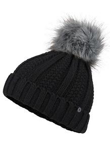 Women's Bronx Pom Hat, Black, medium