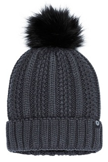 Women's Bronx Pom Hat, Dark Steel, medium