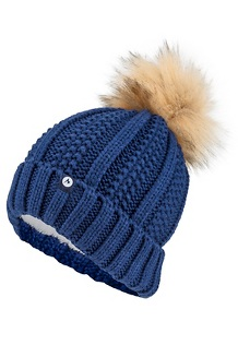 Women's Bronx Pom Hat, Arctic Navy, medium
