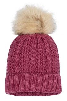 Women's Bronx Pom Hat, Dry Rose, medium