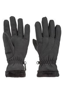 Women's Fuzzy Wuzzy Gloves, Black, medium
