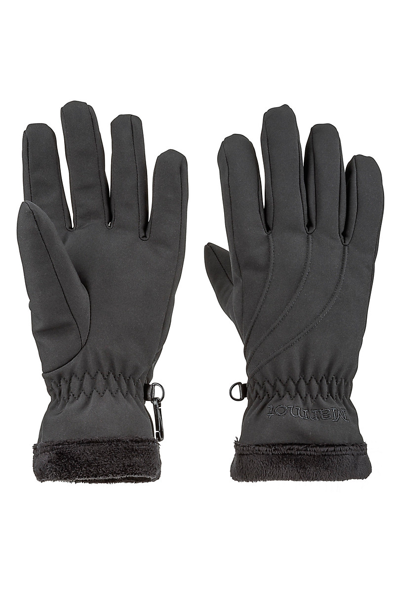 Wm's Fuzzy Wuzzy Glove, Black, large