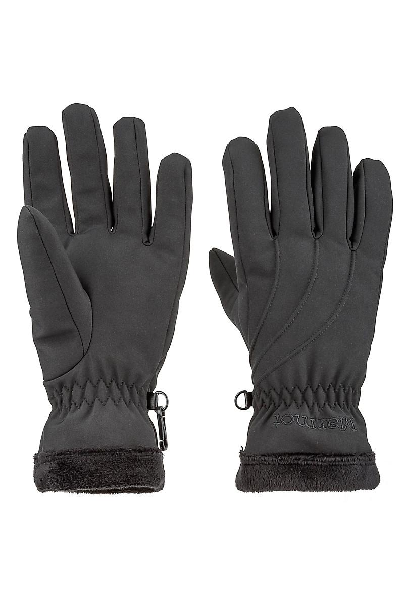 Wm's Fuzzy Wuzzy Glove, Black, large